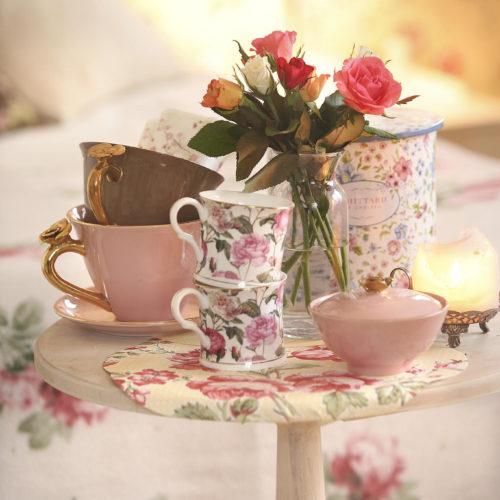 rosor koppar servis sött